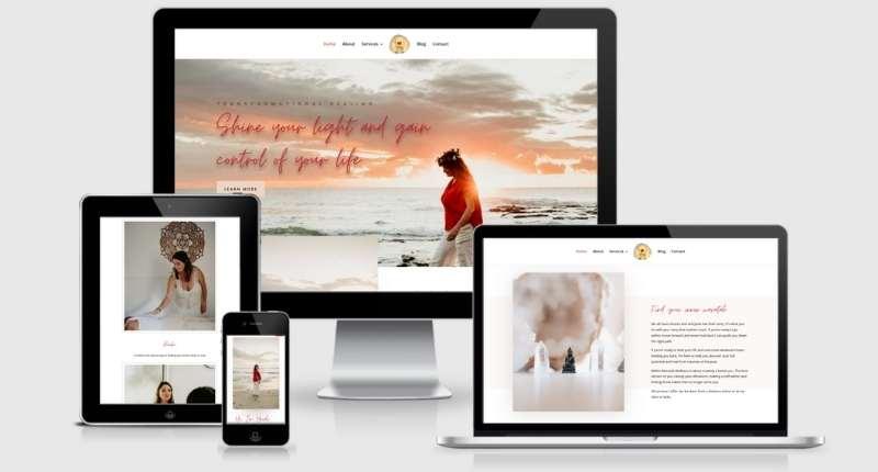 small business website design taste restaurant